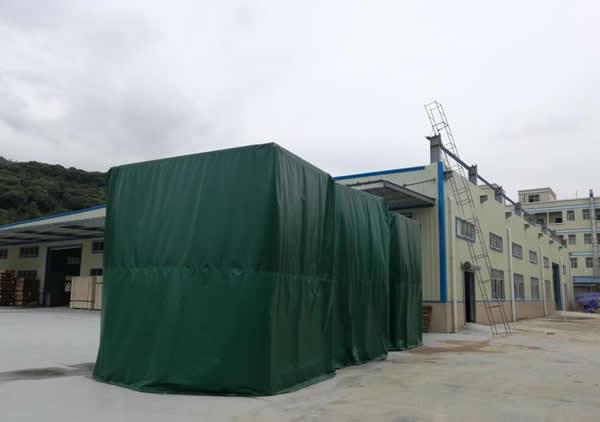 防水防尘包装应用案例:帆布木箱外包装